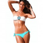Ebuddy Sexy Swimsuit Padded Jeweled Crystal Bandeau Bikini 1