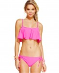 Roxy Cropped Bikini Top SideTie Bikini Bottom