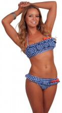 cheap-sexy-bandeau-halter-ruffle-bikini-blue-gingham