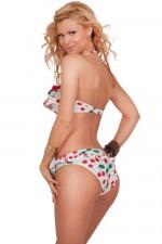 cheap-sexy-bandeau-halter-ruffle-bikini-cherry