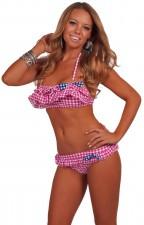 cheap-sexy-bandeau-halter-ruffle-bikini-pink-gingham